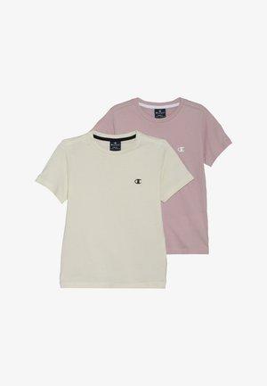 BASICS CREW NECK 2 PACK - T-shirt basique - lilac/off-white