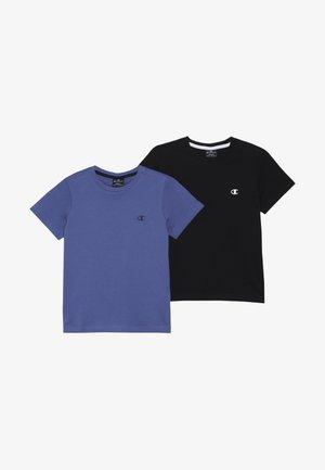 BASICS CREW NECK 2 PACK - Basic T-shirt - blue/black