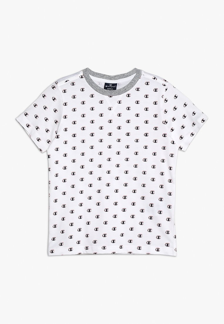 Champion - AMERICAN CLASSICS CREWNECK - Print T-shirt - white/melange