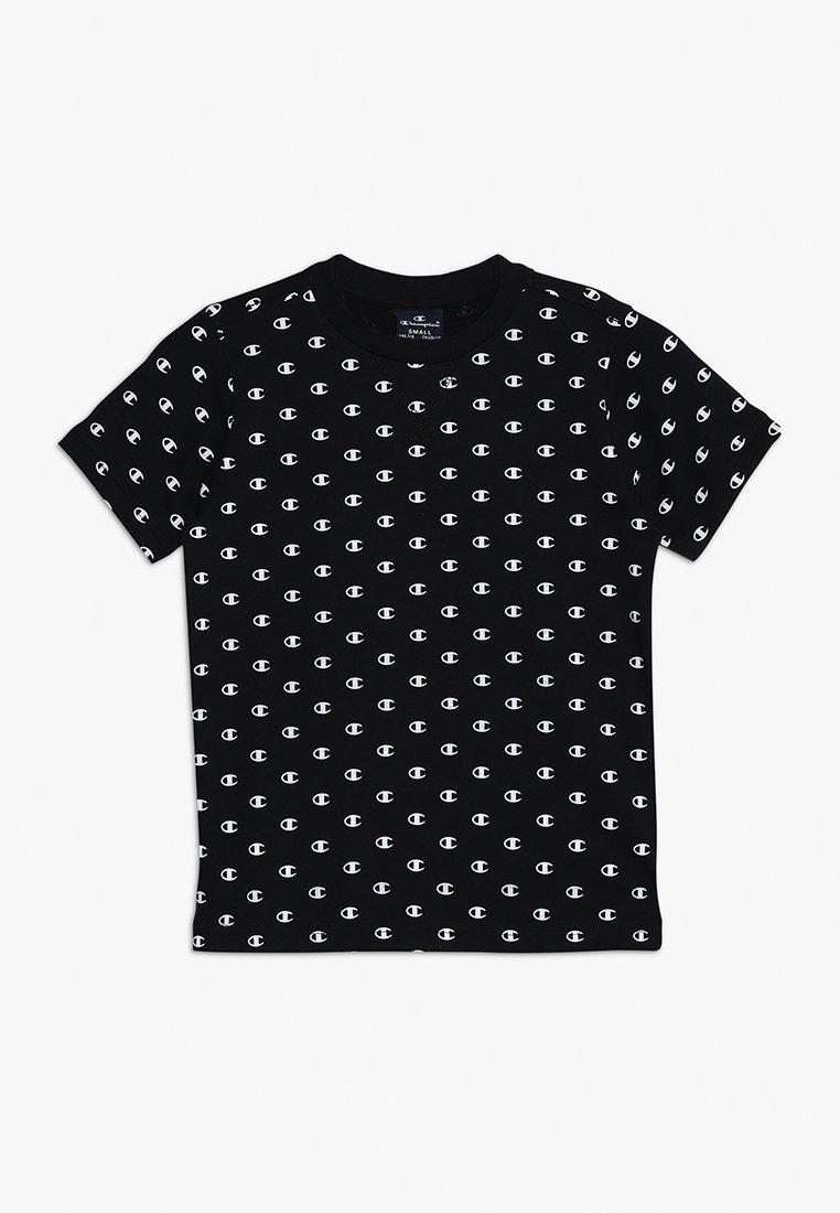 Champion - AMERICAN CLASSICS CREWNECK - Print T-shirt - black/white