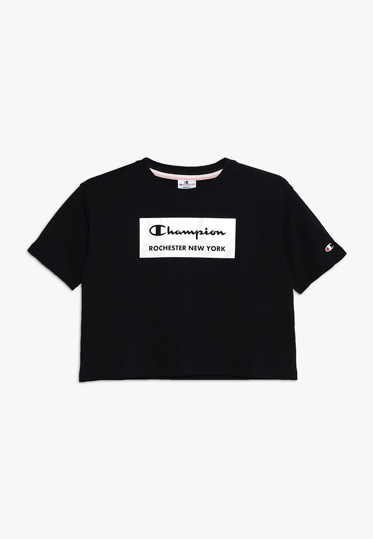 Champion - AMERICAN CLASSICS CREWNECK CROP - Camiseta estampada - black