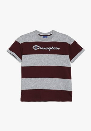 ROCHESTER VARSITY CREWNECK - T-shirts med print - mottled grey/dark red