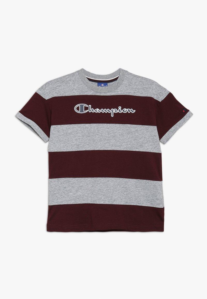 Champion - ROCHESTER VARSITY CREWNECK - T-shirts print - mottled grey/dark red