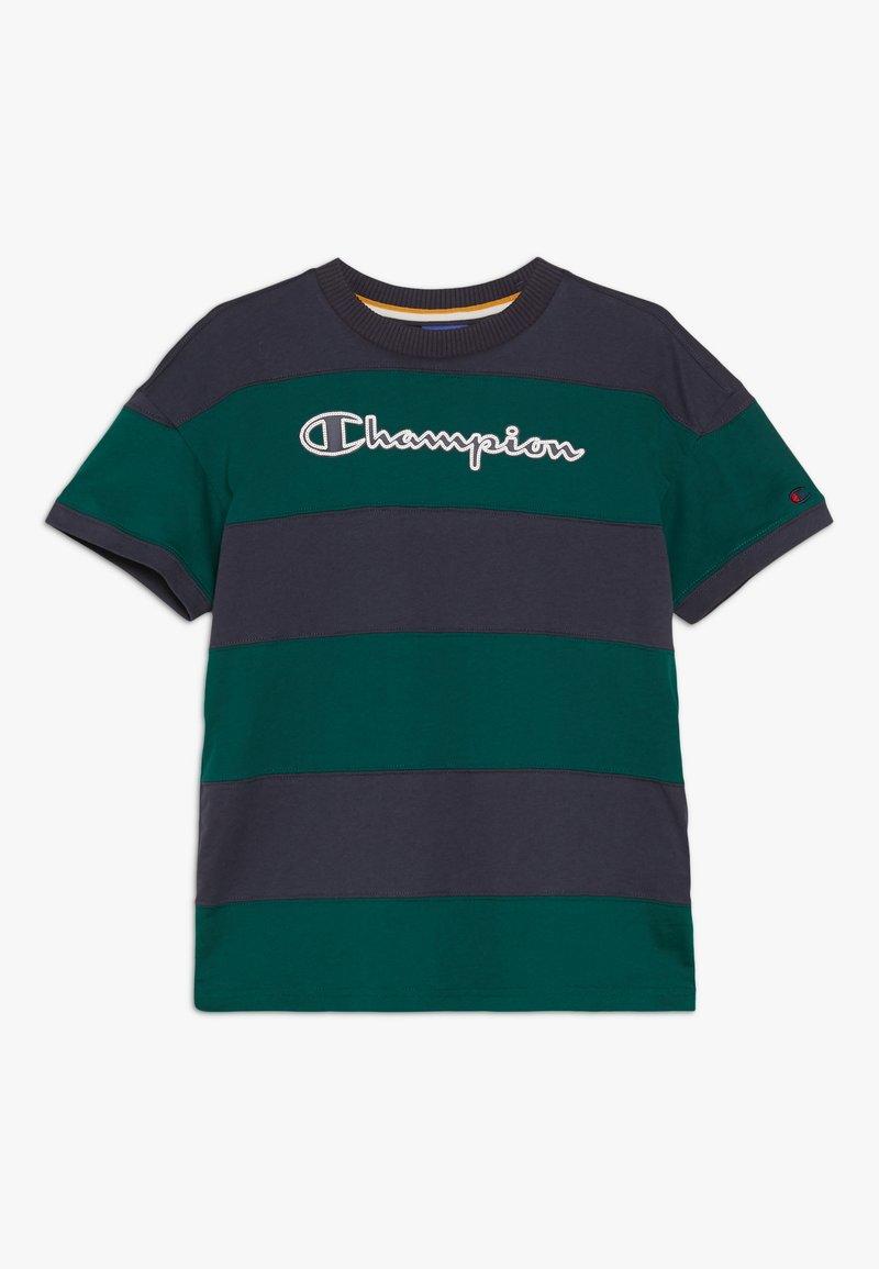Champion - ROCHESTER VARSITY CREWNECK - Triko spotiskem - dark blue/dark green