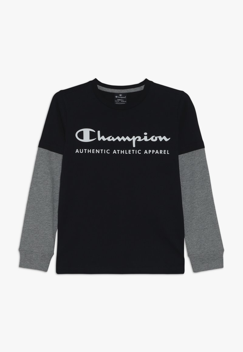 Champion - AMERICAN CLASSICS LONG SLEEVE CREWNECK  - Long sleeved top - navy/greymelange