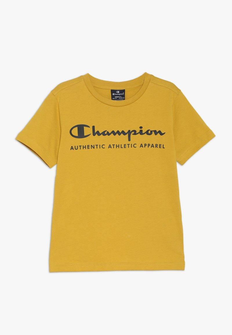 Champion - AMERICAN CLASSICS CREWNECK - Print T-shirt - mustard yellow