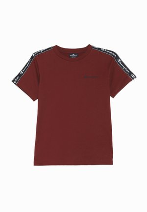 AMERICAN CLASSICS PIPING CREWNECK - T-shirt print - bordeaux