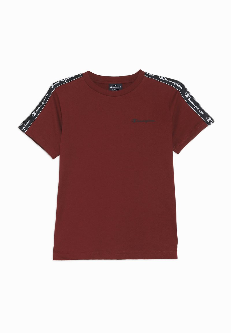 Champion - AMERICAN CLASSICS PIPING CREWNECK - Print T-shirt - bordeaux