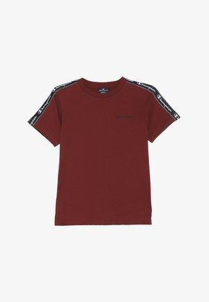 AMERICAN CLASSICS PIPING CREWNECK - Print T-shirt - bordeaux