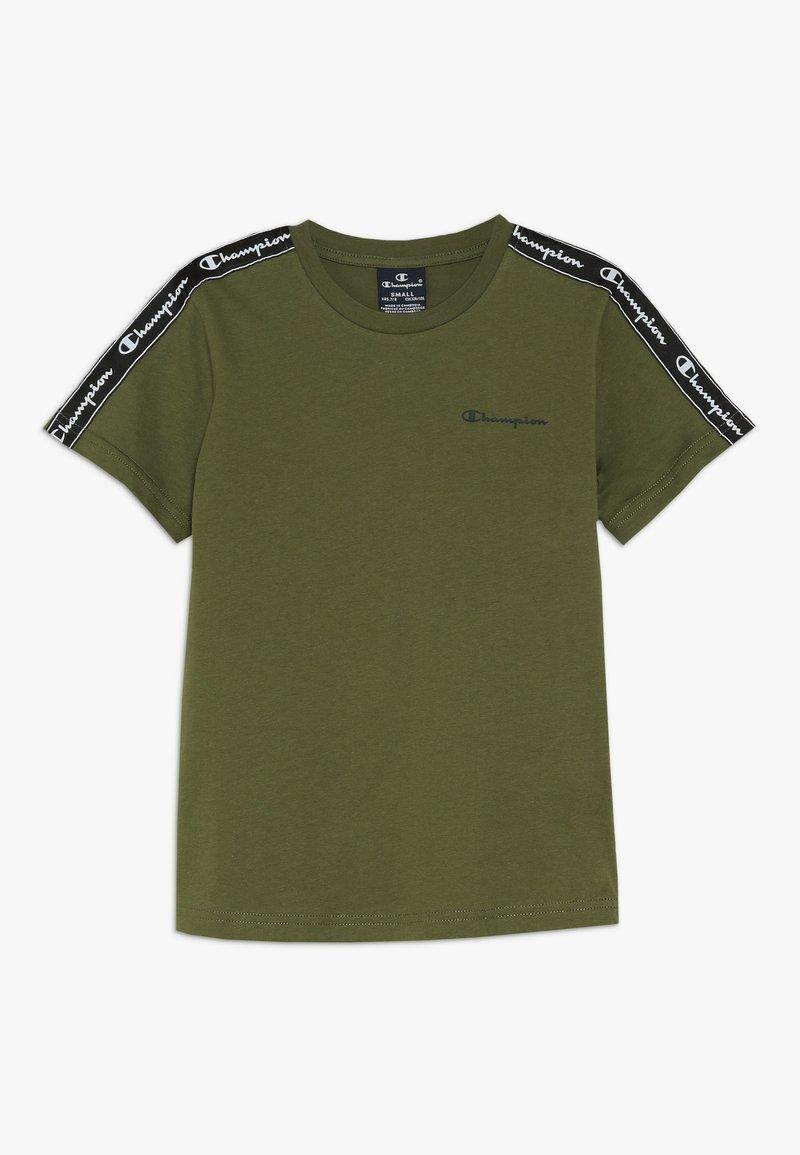 Champion - AMERICAN CLASSICS PIPING CREWNECK - Print T-shirt - khaki