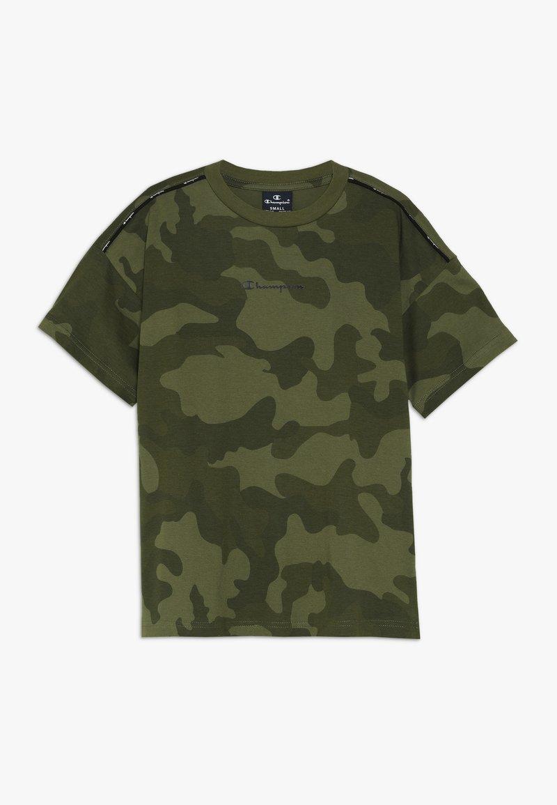 Champion - AMERICAN CLASSICS MAXI LOGO CREWNECK - T-shirt print - khaki
