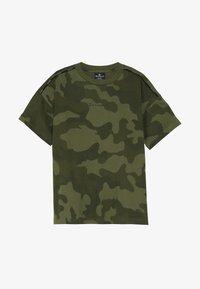 Champion - AMERICAN CLASSICS MAXI LOGO CREWNECK - T-shirt print - khaki - 2