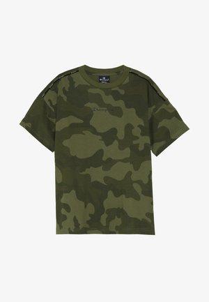 AMERICAN CLASSICS MAXI LOGO CREWNECK - T-shirt med print - khaki