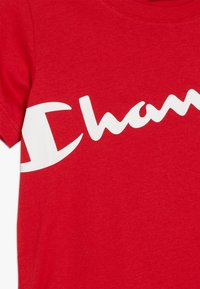 Champion - BASIC BLOCK CREWNECK  - T-shirt print - red - 3