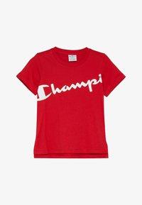 Champion - BASIC BLOCK CREWNECK  - T-shirt print - red - 2