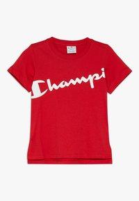 Champion - BASIC BLOCK CREWNECK  - T-shirt print - red - 0
