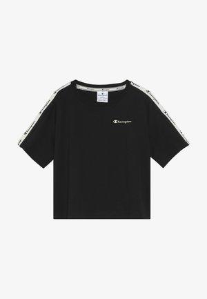 BRAND REVOLUTION CROP - Print T-shirt - black