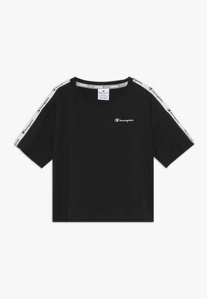 BRAND REVOLUTION CROP - Print T-shirt - black