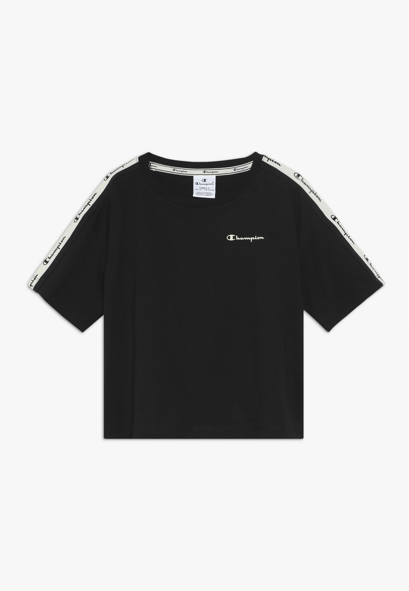 Champion - BRAND REVOLUTION CROP - T-shirt z nadrukiem - black