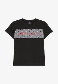 Champion - CHAMPION X ZALANDO - T-shirt print - black/white - 2