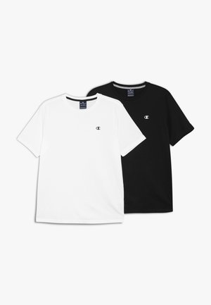 BASICS CREWNECK 2 PACK - T-shirt - bas - white/navy