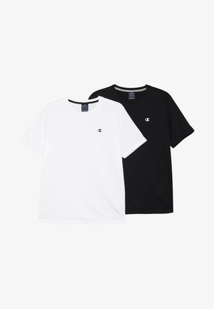 BASICS CREWNECK 2 PACK - Basic T-shirt - white/navy