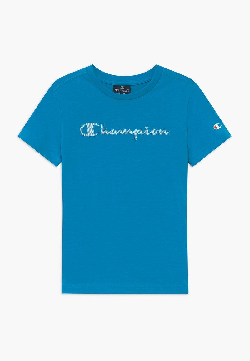 Champion - LEGACY AMERICAN CLASSICS CREWNECK - Print T-shirt - blue