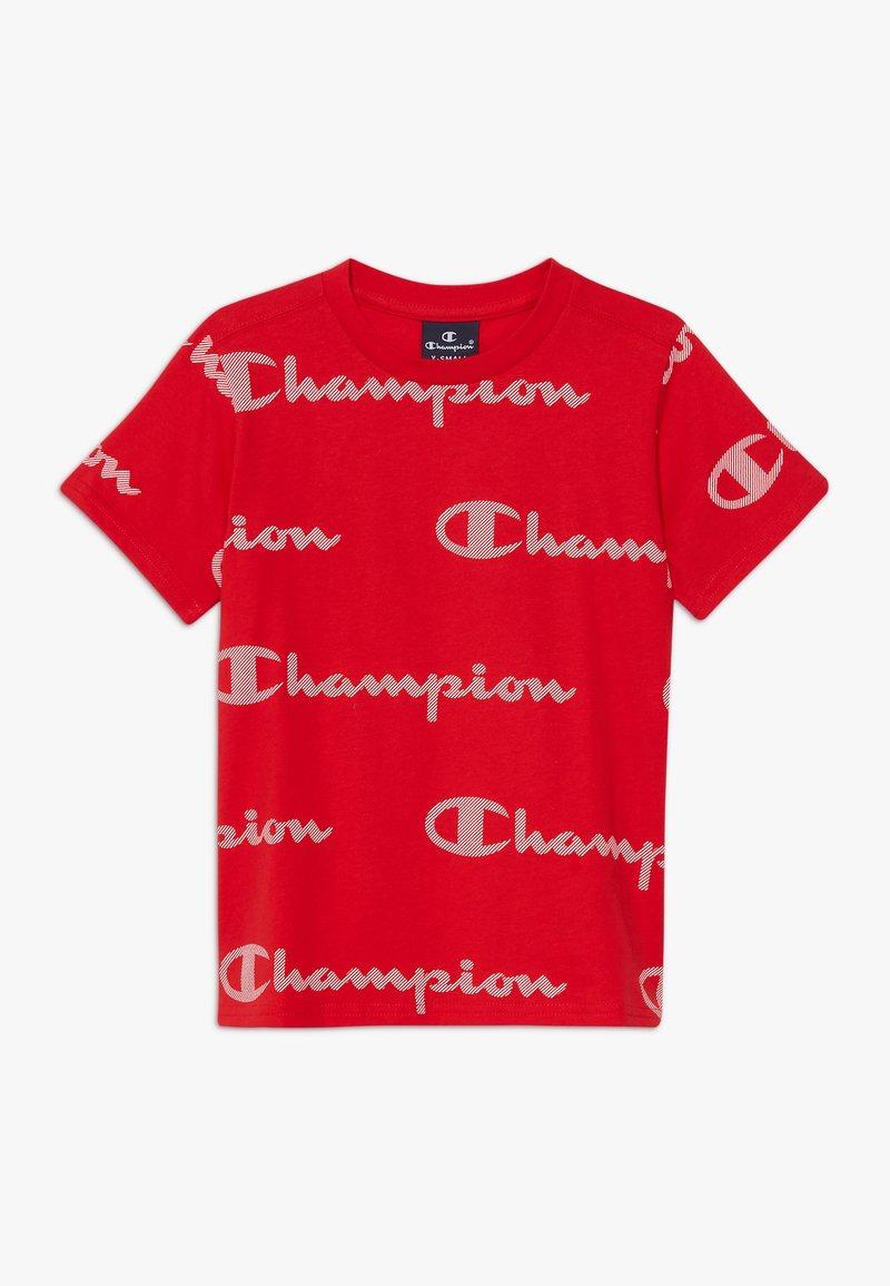 Champion - LEGACY AMERICAN CLASSICS CREWNECK  - Print T-shirt - red