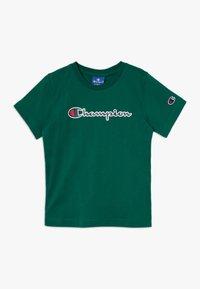 Champion - ROCHESTER LOGO CREWNECK - Print T-shirt - dark green - 0