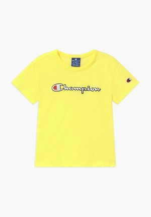 LOGO CREWNECK - T-shirt imprimé - yellow