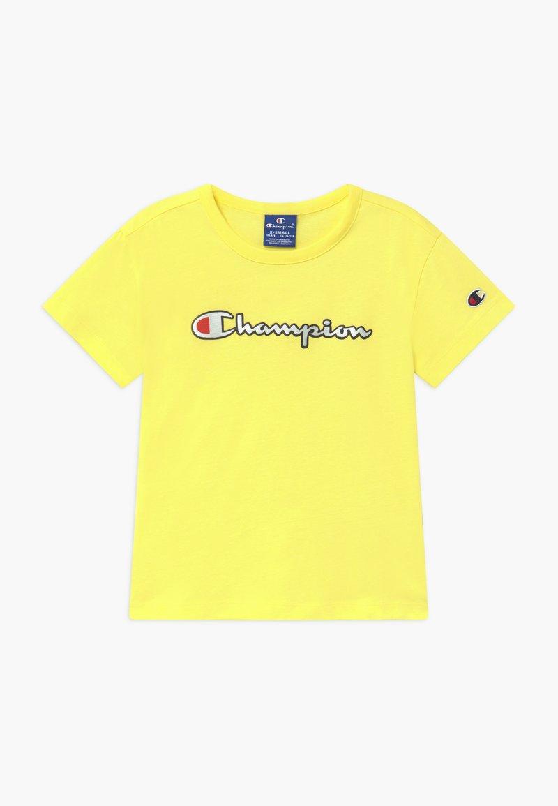 Champion - LOGO CREWNECK - T-shirt z nadrukiem - yellow