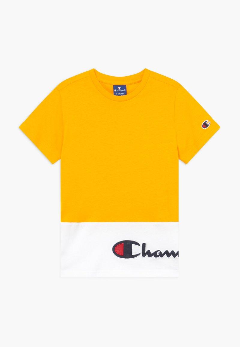 Champion - ROCHESTER CHAMPION LOGO  - T-shirt z nadrukiem - yellow
