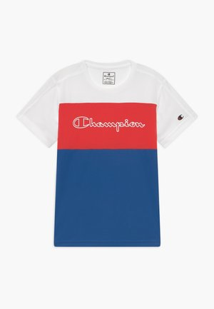 CHAMPION X ZALANDO PERFORMANCE - T-shirt print - blue/white/red