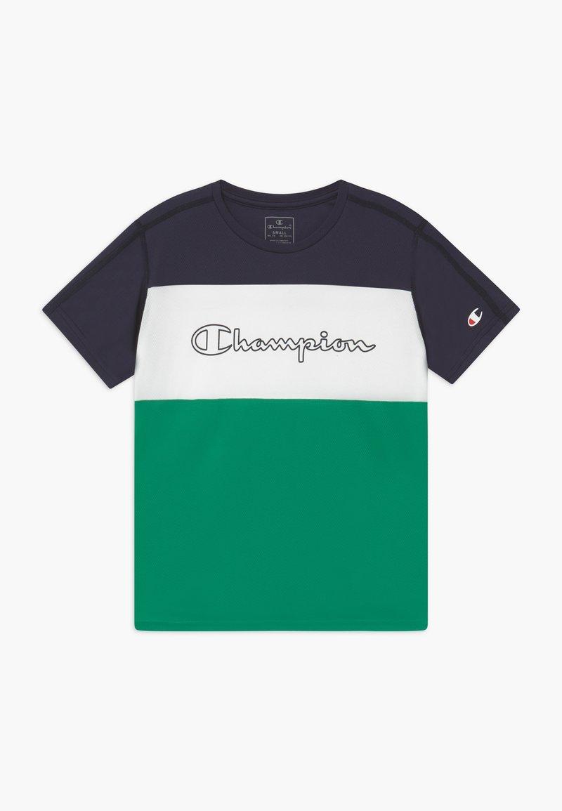 Champion - CHAMPION X ZALANDO PERFORMANCE - Print T-shirt - green/dark blue/white