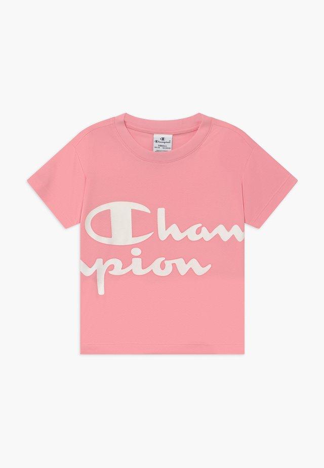 CHAMPION X ZALANDO PERFORMANCE BOXY TEE - T-shirt z nadrukiem - light pink
