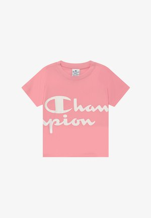 CHAMPION X ZALANDO PERFORMANCE BOXY TEE - T-shirt z nadrukiem - light pink