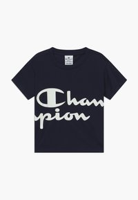 Champion - CHAMPION X ZALANDO PERFORMANCE BOXY TEE - Print T-shirt - dark blue - 0
