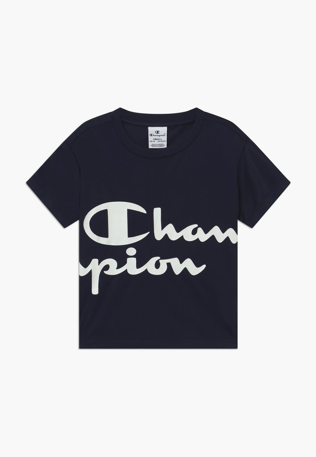 CHAMPION X ZALANDO PERFORMANCE BOXY TEE - Print T-shirt - dark blue