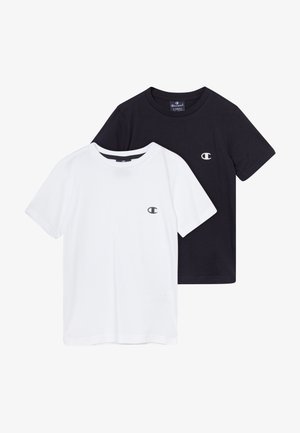 LEGACY CHAMPION BASICS CREW-NECK 2 PACK - T-shirt - bas - white/navy