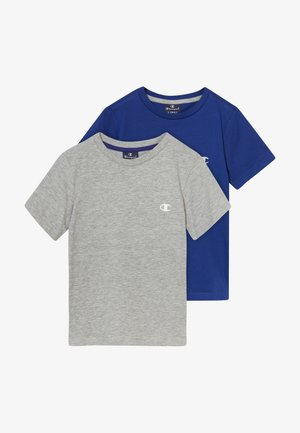 LEGACY CHAMPION BASICS CREW-NECK 2 PACK - Basic T-shirt - grey/blue