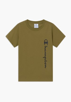 BREAKING RULES CREWNECK - Print T-shirt - khaki