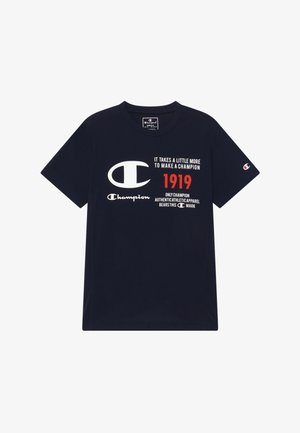 CHAMPION X ZALANDO BOYS PERFORMANCE TEE - T-shirt print - dark blue