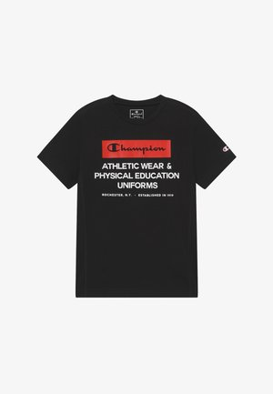CHAMPION X ZALANDO BOYS PERFORMANCE TEE - T-shirt con stampa - black