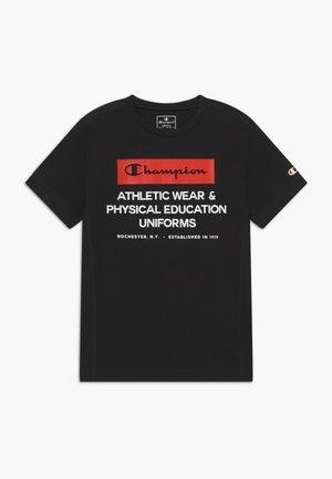 CHAMPION X ZALANDO BOYS PERFORMANCE TEE - T-shirt print - black