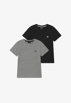 LEGACY BASICS CREW-NECK UNISEX 2 PACK  - T-shirt basic - grey/black