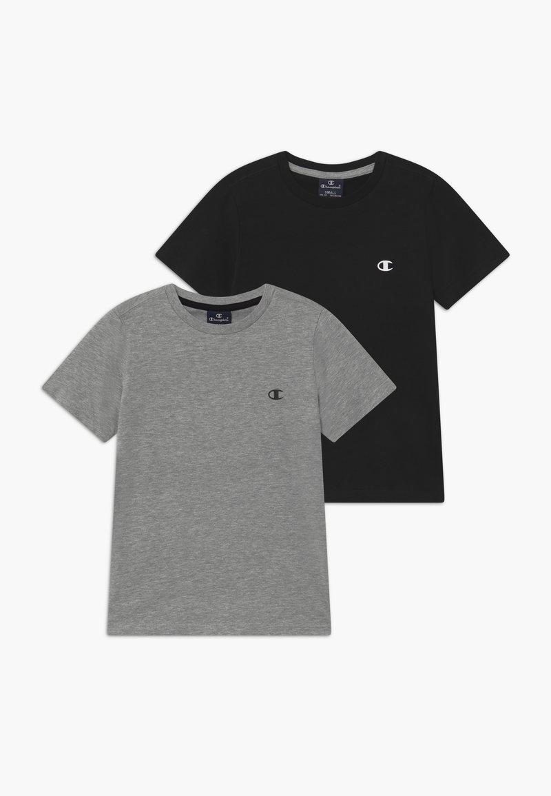 Champion - LEGACY BASICS CREW-NECK UNISEX 2 PACK  - T-shirt basique - grey/black