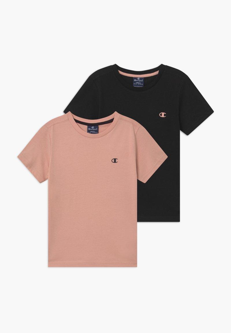 Champion - LEGACY BASICS CREW-NECK UNISEX 2 PACK  - T-shirts - light pink