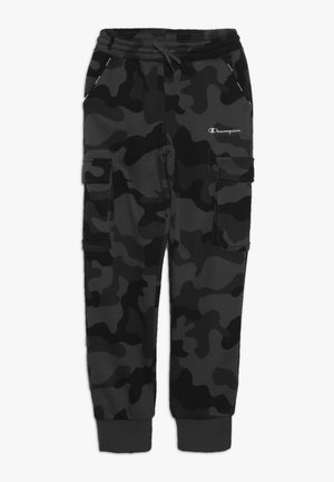 AMERICAN CLASSICS MAXI LOGO CUFF CARGO PANT - Träningsbyxor - dark grey/black