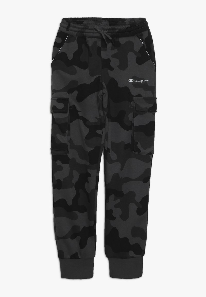 Champion - AMERICAN CLASSICS MAXI LOGO CUFF CARGO PANT - Tracksuit bottoms - dark grey/black