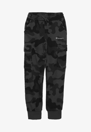 AMERICAN CLASSICS MAXI LOGO CUFF CARGO PANT - Teplákové kalhoty - dark grey/black
